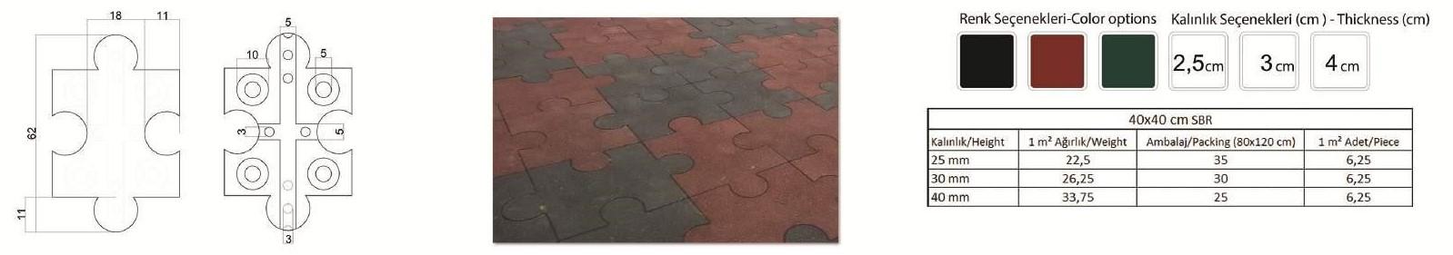 Puzzle Rubber - podloge za dječja igrališta
